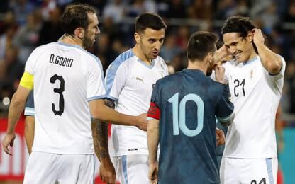 Argentina-Uruguay 2-2: pareggio deciso dai big