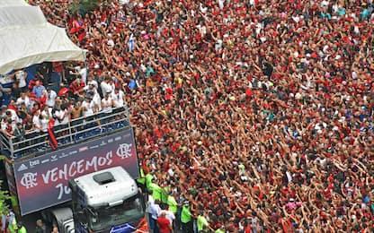 Delirio Flamengo, che festa coi tifosi a Rio. FOTO