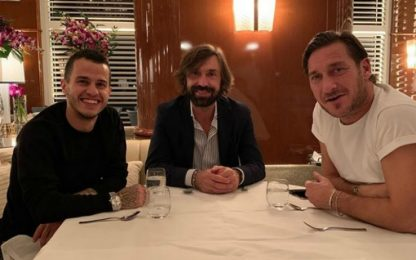 Giovinco cena con Totti e Pirlo: social scatenati