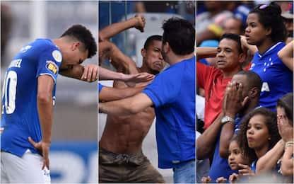 Dramma Cruzeiro: retrocede e scoppia il caos. FOTO