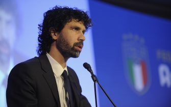 ROME, ITALY - JANUARY 29:  Damiano Tommasi attends the Italian Football Federation (FIGC) new president elections  on January 29, 2018 in Rome, Italy.  (Photo by Marco Rosi/Getty Images)