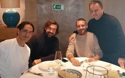 De Rossi-Pirlo-Nesta: cena da campioni del mondo