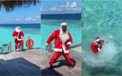 """Santa is crazy"": il pazzo Natale di Evra. VIDEO"