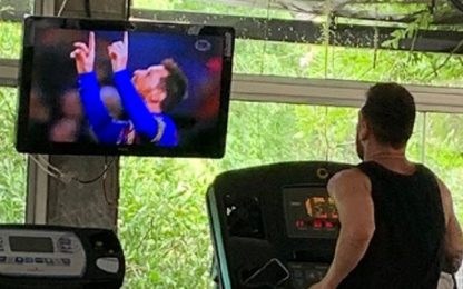 L'ego di Messi: si allena guardando i suoi gol
