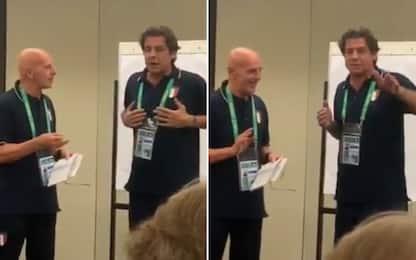 Berti, la gag con Sacchi pre Italia-Brasile. VIDEO