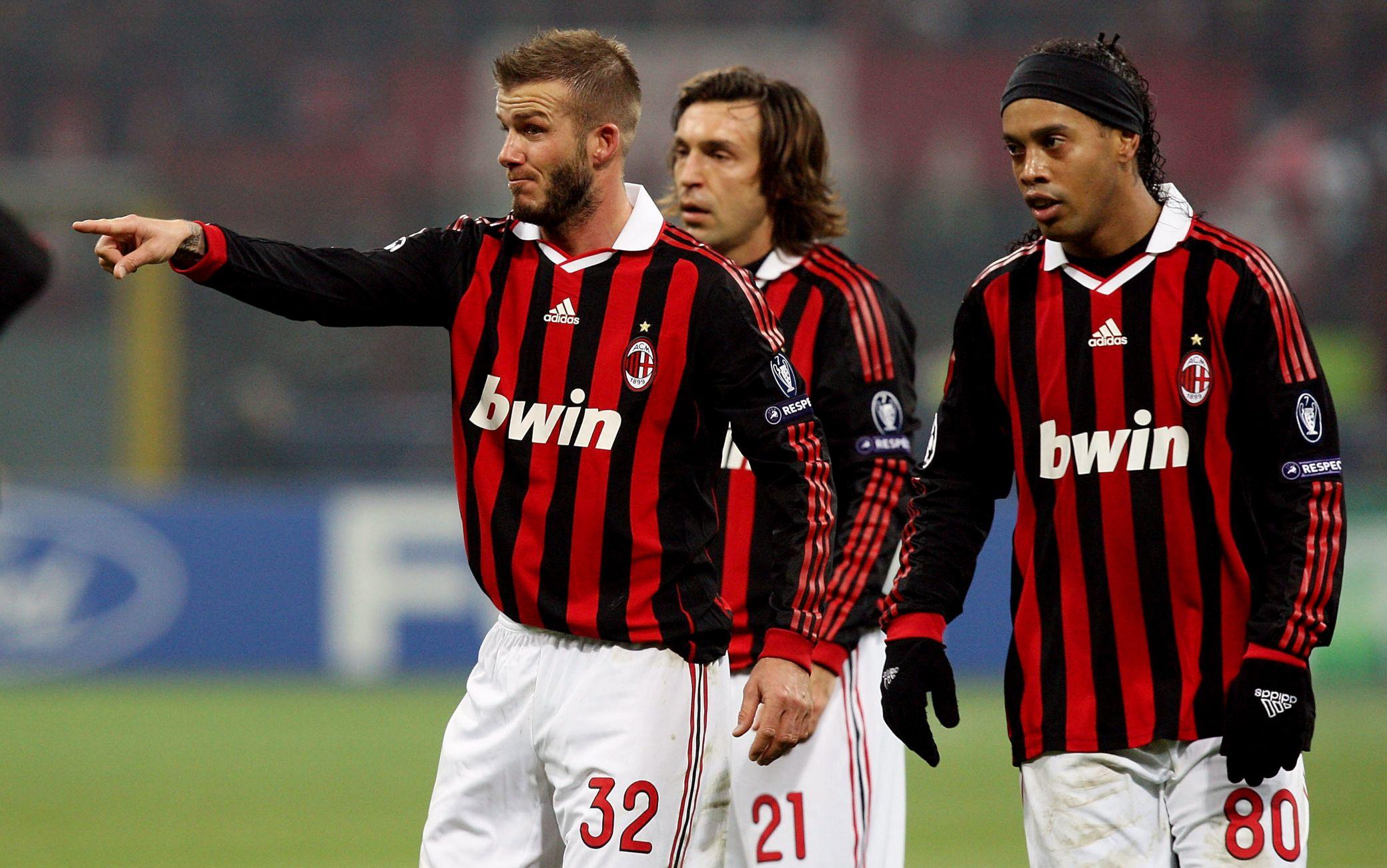 Ronaldinho al Milan con Beckham e Pirlo