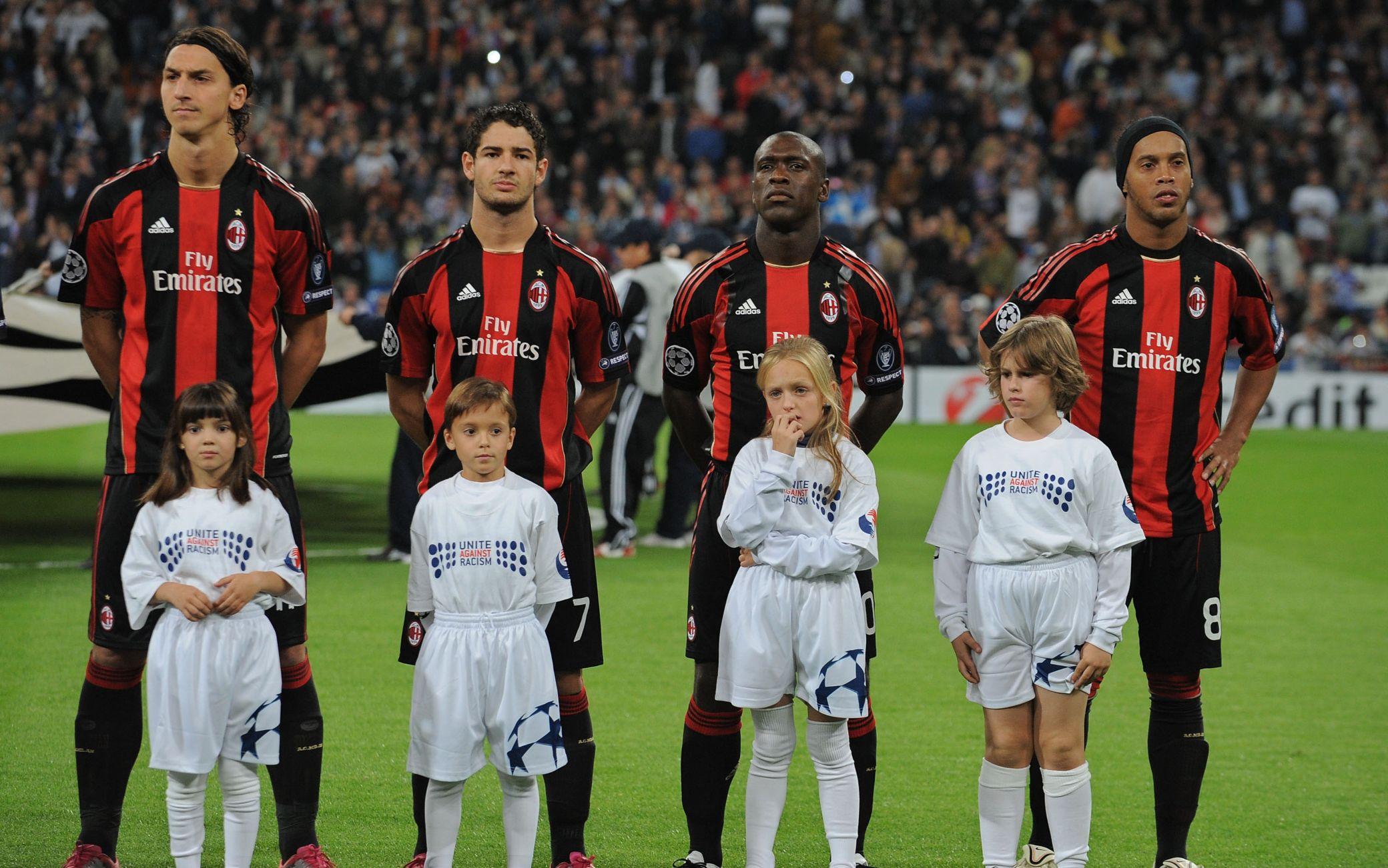 Ronaldinho al Milan con Ibra, Seedorf e Pato
