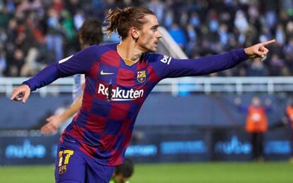 Grizou salva il Barça: due gol e rimonta all'Ibiza