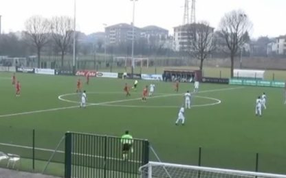 Monza: il gol da centrocampo dell'Under16. VIDEO