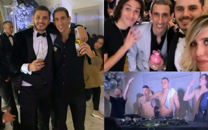 Icardi, Di Maria e Cavani: party pazzesco. VIDEO