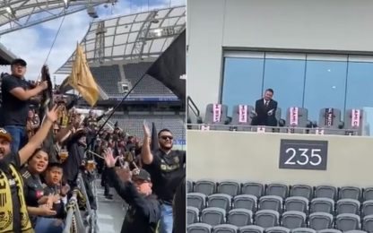 I tifosi del Los Angeles trollano Beckham. VIDEO