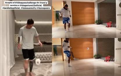 Messi sfida Vidal alla #stayathomechallenge. VIDEO