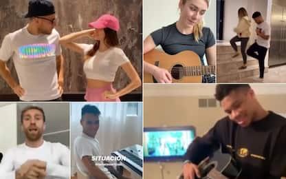 A casa con la musica: se lo sportivo suona e balla