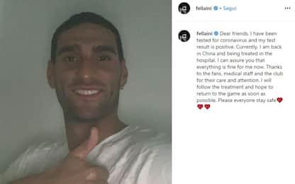 "Fellaini positivo: ""Sono in ospedale, ma sto bene"""