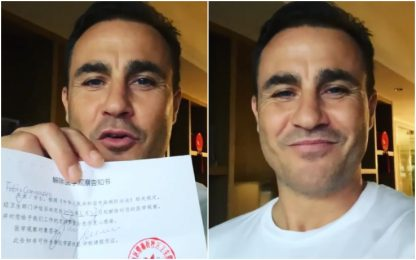 "Covid-19, Cannavaro in Cina: ""Quarantena finita"""