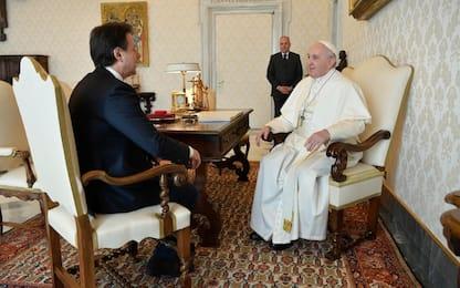 Papa Francesco riceve Conte in Vaticano
