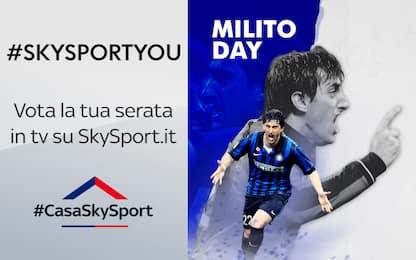 """#SkySportYou, vota la tua partita del """"Milito Day"""""""
