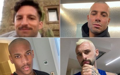 I cambi di look dei calciatori in quarantena. FOTO