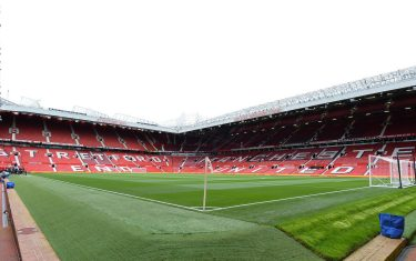 epa07936862 General view of the Old Trafford stadium ahead of the English Premier League soccer match between Manchester United and Liverpool FC in Manchester, Britain, 20 October 2019.  EPA/PETER POWELL EDITORIAL USE ONLY.  No use with unauthorized audio, video, data, fixture lists, club/league logos or 'live' services. Online in-match use limited to 120 images, no video emulation. No use in betting, games or single club/league/player publications.