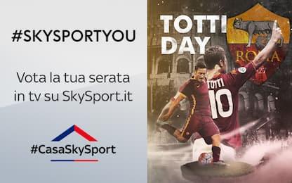 """#SkySportYou, vota la tua partita del """"Totti Day"""""""