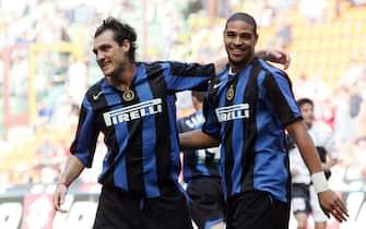 ©Marco Lussoso/LaPresse01-05-2005 MilanoSport CalcioInter Siena campionato serie A 2004 2005Nella foto Adriano-Vieri