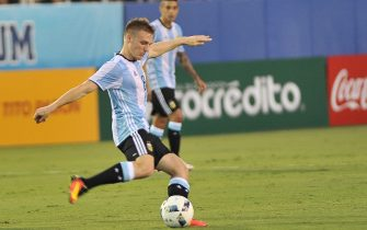 Argentina's Santiago Ascacibar in action during a friendly preolympic match against Argentina and Colombia at FAU Stadium in Boca Raton, Florida, USA, 21 July 2016. The match ended 0-0. EFE/GASTON DE CARDENAS