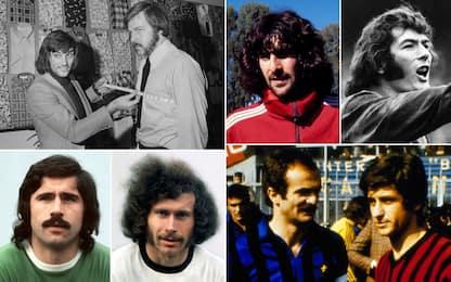 Chiome, baffi, basette: i look del calcio anni '70