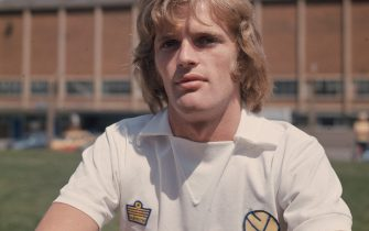 1974:  Gordon McQueen of Leeds United FC.  (Photo by Central Press/Getty Images)