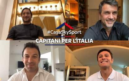 Capitani per l'Italia, messaggio in diretta su Sky