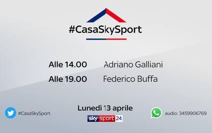 #CasaSkySport: gli ospiti di lunedì 13 aprile