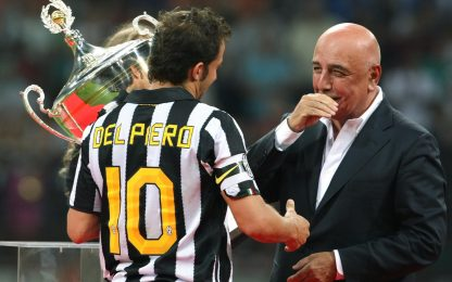 """Galliani: """"Rimpianti? Potevo prendere Del Piero"""""""
