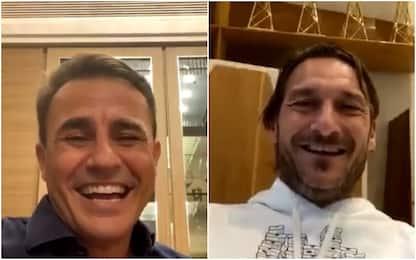 Cannavaro-Totti show su Instagram. Poi arriva Balo