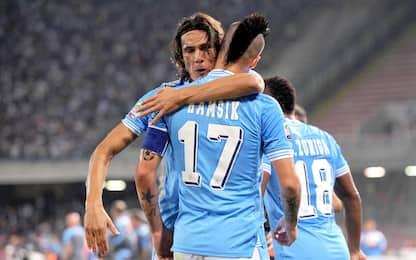 Coppie gol 2012-13: Cavani e Hamsik sul podio