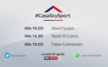 #CasaSkySport, gli ospiti di lunedì 20 aprile