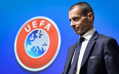 """Uefa, Ceferin: """"Pronti a giocare a porte chiuse"""""""