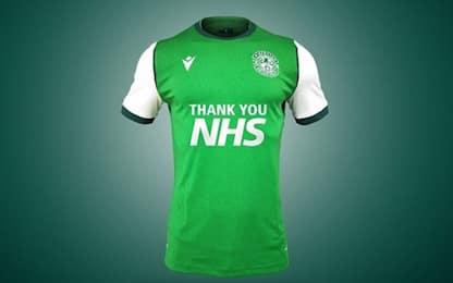 """Hibernian, ecco la nuova maglia: """"Grazie medici"""""""