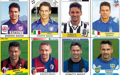 Roberto Baggio, la carriera in 22 figurine