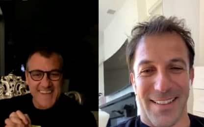Del Piero, Vieri e lo show in diretta Instagram