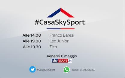 #CasaSkySport, gli ospiti di venerdì 8 maggio