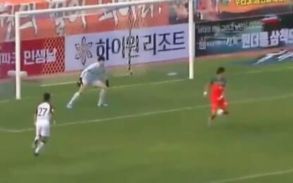 La K-League parte alla grande: gran gol di tacco!
