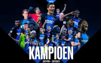 Belgio, campionato finito: Club Brugge campione