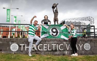 celtic campione festa tifosi