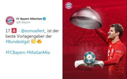 Muller re degli assist, nessuno come lui in Europa
