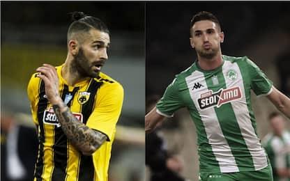 "AEK Atene-Panathinaikos 1-1: gol ""italiani"""