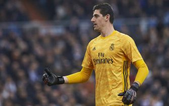 Thibaut Courtois of Real Madridduring the match Real Madrid v Sevilla FC of LaLiga 2019/2020 season, date 20. Santiago Bernabéu Stadium. Madrid, Spain, 18 Jan 2020.