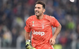 Juventus Gianluigi Buffon during the italian Serie A soccer match Juventus FC vs Bologna FC at Allianz stadium in Turin, Italy, 19 October 2019  ANSA/ ALESSANDRO DI MARCO