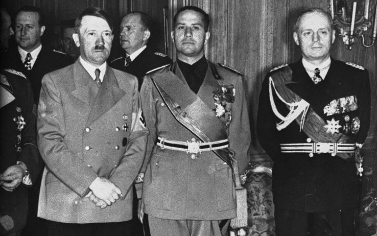 Galeazzo Ciano, Adolf Hitler e Joachim Von Ribbentrop