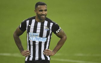 epa08718759 Callum Wilson of Newcastle reacts during the English Premier League match between Newcastle United and Burnley in Newcastle, Britain, 03 October 2020.  EPA/Peter Powell / Pool EDITORIAL USE ONLY. No use with unauthorized audio, video, data, fixture lists, club/league logos or 'live' services. Online in-match use limited to 120 images, no video emulation. No use in betting, games or single club/league/player publications.