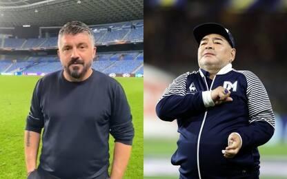 """Gattuso fa gli auguri a Maradona: """"Ti voglio bene"""""""