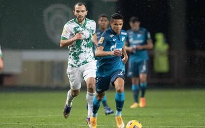 Zenit, 2-2 contro l'Akhmat a 3 giorni dalla Lazio